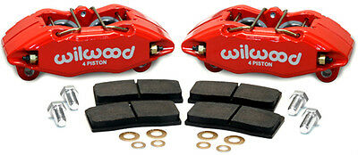 WILWOOD BOLT ON DHPA FORGED FRONT CALIPER KIT 90-01 ACURA INTEGRA DA DC2 RED