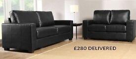 brand new mini max 3+2 sofa black or brown and all sofas are guaranteed