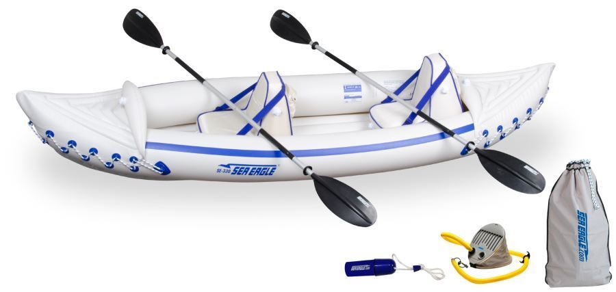 sea eagle 330 pro package inflatable kayak canoe brand new full 3 year wty