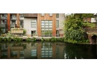Canal side Large Desk Space in creative shared professional office, Haggerston