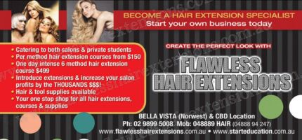 Flawless Hair Extensions Training Courses In 6 Styles