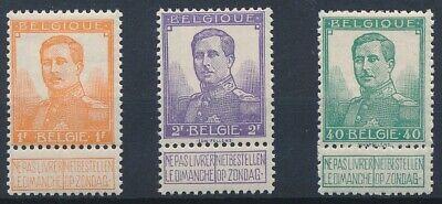 [9904] Belgium Pellens good stamp very fine MH (3x)