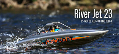 Pro Boat Proboat 23 Inch River Jet Boat RC Deep V RTR Self Righting PRB08025
