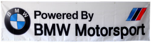 BMW Motorsport Flag 2X8FT White Banner