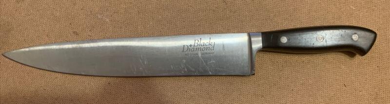 "BLACK DIAMOND MADE IN GERMANY 10"" INCH BLADE HEAVY DUTY CHEFS KNIFE #1239417"
