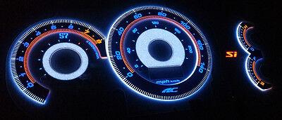 90-93 Acura Integra S7 AC Auto Autotechnic 3D Reverse Overlay Glow Gauge Faces