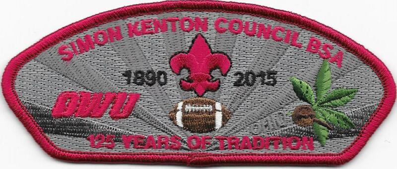 2015 OWU Football Simon Kenton Council Strip CSP SAP Boy Scout of America BSA