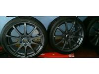 "17 "" 5 stud German fitment alloys & mint tyres as new"