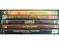 Neil Young,James Taylor & Cream DVDs'