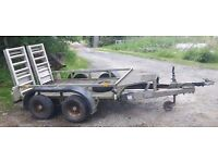 Ifor williams twin axle 2000kg plant trailer