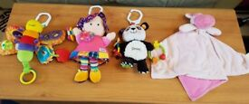 Lamaze baby toys. Excellent condition. Hippo comfort blanket is sold.