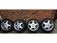 "17"" Mercedes AMG wheels"