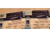 Nitto ATP Finals- 2x LOWER TIER Tickets- For FRIDAY 17th Nov 2017 EVENING Session -The O2