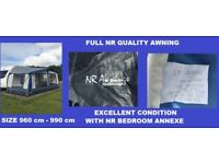 Caravan Awning NR Pullman With NR Bedroom Annexe Extension
