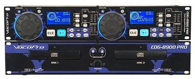 Vocopro CDG-8900 Pro Dual CD/CD+G Player Karaoke KJ Beat Matching, Pitch Control