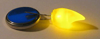 Flickering Yellow Led - Yellow Candle Flickering Led - Cr2032 Battery Included