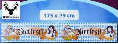 Banner 1,75x0,29 m Oktoberfest Dekoration Bayern Fete Party Wimpelkette Bierfes