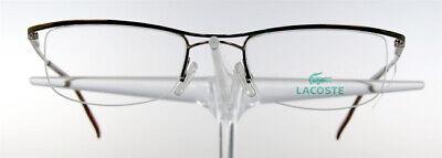LACOSTE 7233 Brille Brillengestell Braun Halbrand Damen Herren Eyeglasses NEU