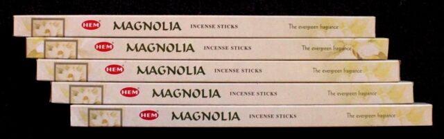 40 Sticks 5 x 8g Packs MAGNOLIA Flower Floral Scent Incense Bulk Insence HEM