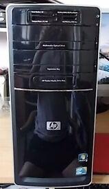 HP INTEL i3 MINI DESKTOP BASE UNIT. 500 GB HARD DRIVE, 4 GB PC3 MEMORY, BUILT IN WI FI, 8 X USB.