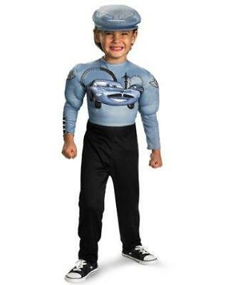 NEW DISNEY CARS FINN McMISSILE RACE DRIVER MUSCLE HALLOWEEN COSTUME Boy M 7 - 8