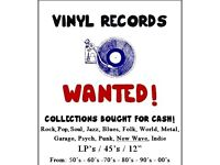 VINYL RECORDS WANTED CASH WAITING