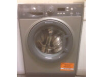 Silver Hotpoint 9kg,1400 spin washing machine. Model WMXTF942 EXTRA