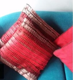 Red next cushions
