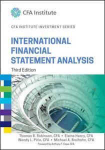 International Financial Statement Analysis  Textbook