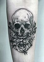 Tattoo Discounts: Only pay $350 for this skull tattoo!