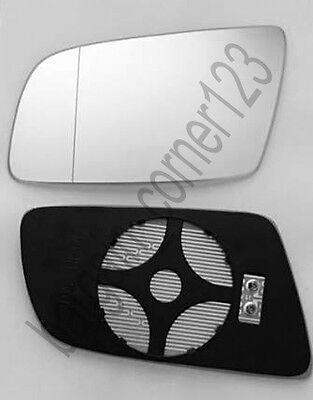 Left Passenger Side Wing Mirror Glass HEATED ASPHERIC  BMW 5 E60 E61 03 10