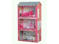 REDUCED! NEW Plum Plaza Wooden Dolls House. RRP £119.99