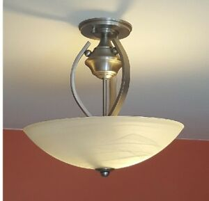 Beautiful Ceiling Light : Brushed Pewter