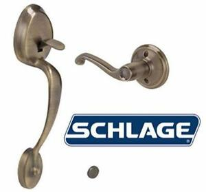 NEW SCHLAGE ENTRY HANDLE W/ FLAIR Left-Handed Interior Lever DOOR HARDWARE DEADBOLT LOCK  84246285