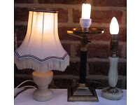 Lamps. Table Lamp. Onyx. Brass. Vintage