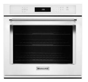 "KITCHENAID NEW KOSE507EWH 27"" SINGLE, 4.3 CU FT., TRUE CONVECTION,SELF CLEAN, FIT SYSTEM,SINGLE WALL OVEN(BD-1540)"