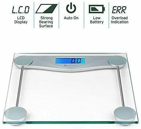 New Digital Body Weight Scale with Tape Measure, 8mm Tempere
