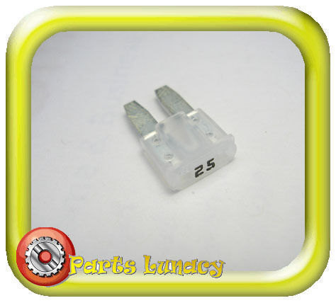 FUSE Micro2 Style 9mm 25 Amp White or Clear FOR Late Model Cadillac