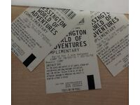 3 x Chessington World of Adventure Theme Park Tickets Valid until 20/10/16
