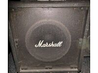 Marshall 1 x 15 Bass cab, 200 watts