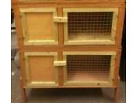 Rabbit or Guineapig block of two hutches brand new
