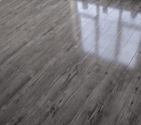 High Gloss Finish Grey Varnished Laminate Flooring