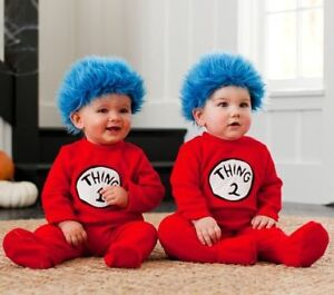 "Twins ""Thing 1 and Thing 2"" costume"