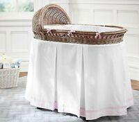 Pottery Barn Kids bassinet with brand new bedding set