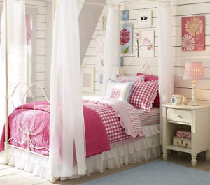 Pottery Barn Allie iron bed with canopy