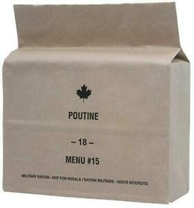 CANADIAN MILITARY MRE SURVIVAL RATIONS -- Extremely popular because of good food quality -- While supply lasts!!!