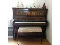 Upright piano and piano stool. Good condition *REDUCED PRICE*
