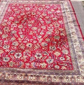 """Persian area rug 100% wool 10ft.10"""" x 8ft"""