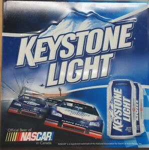 Large Keystone Light Beer and Nascar Tin Sign $30obo