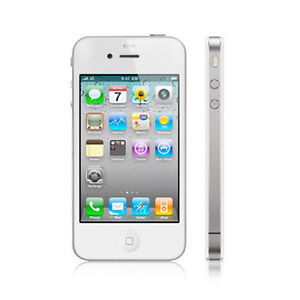 NEW SIM FREE FACTORY UNLOCKED APPLE iPHONE 4 8GB 3G & WIFI WHITE MOBILE PHONE